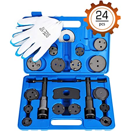 Orion Motor Tech 24pcs Heavy Duty Disc Brake Piston Caliper Compressor Rewind Tool Set and Wind Back Tool Kit for Brake Pad Replacement Reset, Fits Most American, European, Japanese Autos