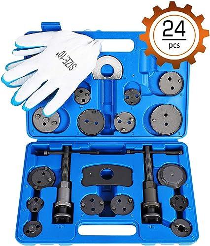 Orion Motor Tech 24pcs Heavy Duty Disc Brake Piston Caliper Compressor Rewind Tool Set and Wind Back Tool Kit for Bra...