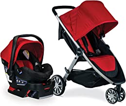 Britax B-Lively Travel System with B-Safe 35 Infant Car Seat, Cardinal- Birth to 55 pounds