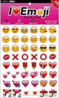 I EM JI Hugs and Kisses Pack of 288 Waterproof Removable Emoji Stickers