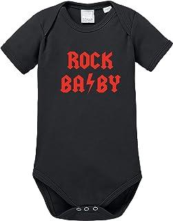 Ezyshirt Rock Baby mit Wunschnamen | Persnalisierter Baby Body Baby Kurzarm Bio Baumwolle