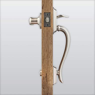 Kwikset 98150-002 Avalon Exterior Handle Only with Tustin Right Left-Handed Levers in, Satin Nickel