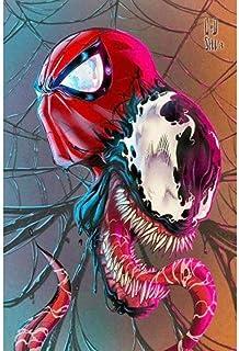 キャンバスアート壁ポスター スーパームービーヒーロースパイダー 海报 绘画 帆布艺术 室内装饰 壁挂 墙壁海报 HD时尚海报