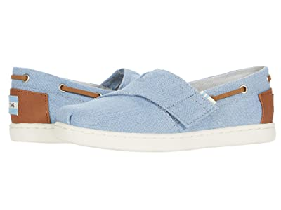 TOMS Kids Bimini (Toddler/Little Kid) (Navy Denim/Synthetic Trim) Kid