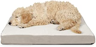 FurHaven Pet Dog Mattress   Deluxe Orthopedic Sherpa Pet Bed Mattress for Dogs & Cats, Clay, Medium