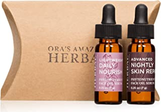 Ora's Amazing Herbal Phytonutrient Face Oil Serum (A Little Bit Of Both Minis, Travel Size) Blends made with Pomegranate, Tamanu, Calendula, Rosehip, Meadowfoam, Carrot Seed Essential Oil