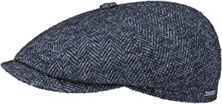 Stetson Hatteras Wool Herringbone Flat Cap Men - Made in The EU