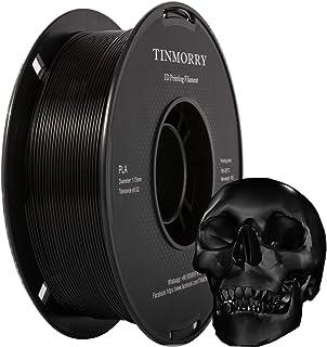 TINMORRY PLA-filament, 1,75 mm, zwart, spoel van 1 kg, Jet Black