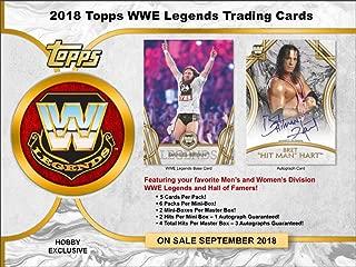 2018 Topps Legends of the WWE Wrestling Hobby MASTER BOX (Factory Sealed)