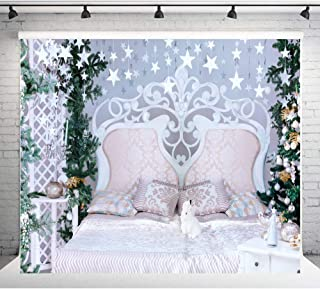 Twinkle Twinkle Little Star Backdrop for Baby Shower 7x5ft Christmas Birthday Background for Kids Gold Headboard Baby Photo Shooth Props