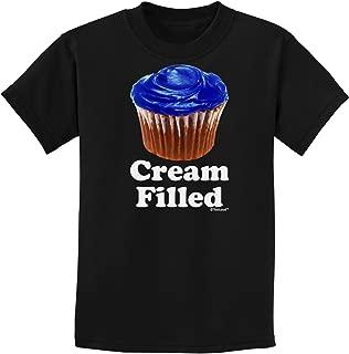 Cream Filled Blue Cupcake Design Childrens Dark T-Shirt