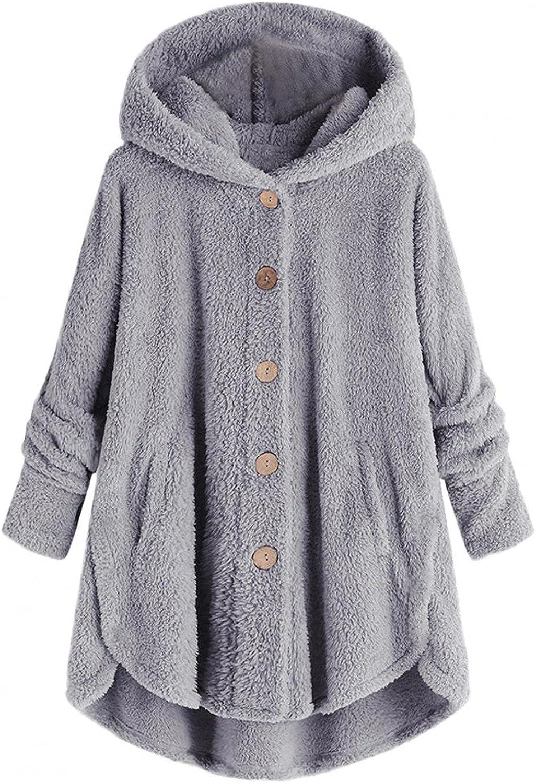 Fleece Pullover Hoodie Women Plus Size Under blast sales Button Sweats Down Hooded In a popularity