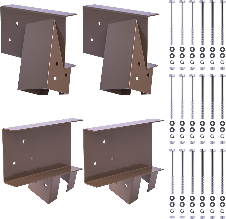 SURPCOS A-Frame Swing Set Brackets, Heavy Duty Wooden Swing Set