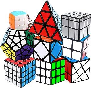 Coolzon Zauberwürfel Speedcube Set, Puzzle Cube Set 2×2 3×3 4×4 Pyraminx..