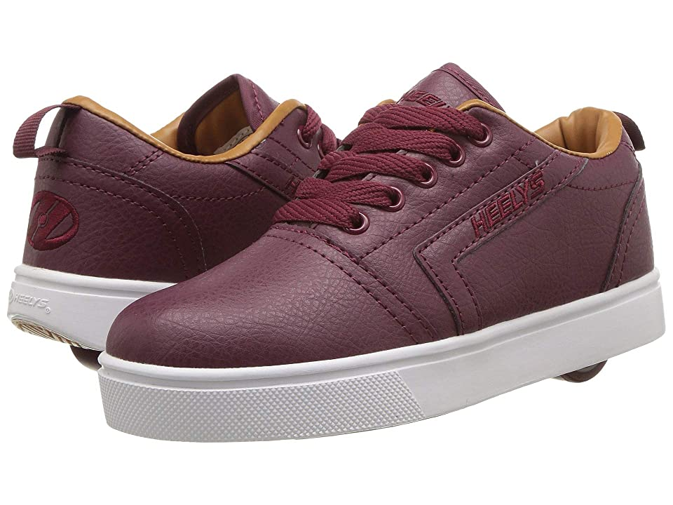 Heelys GR8 Pro (Little Kid/Big Kid/Adult) (Burgundy/Cashew) Boys Shoes