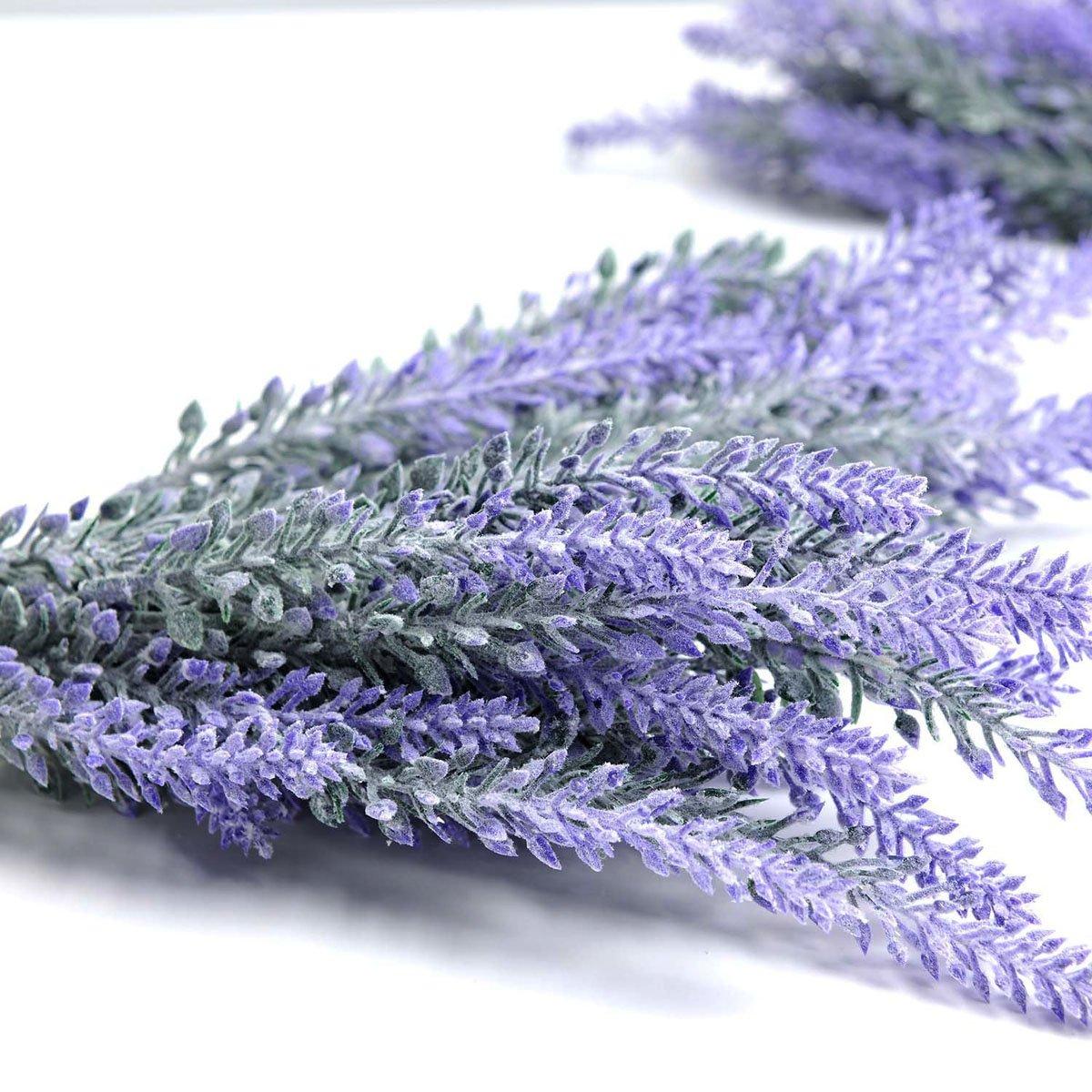 BeYself 5pcs Flores Artificiales Lavanda Ramo en púrpura Tacto ...