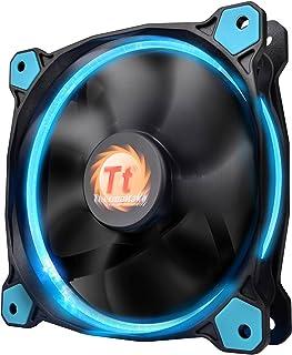 Thermaltake Riing 12 Series Blue High Static Pressure 120mm Circular LED Ring Case/Radiator Fan with Anti-Vibration Mounti...