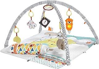 Fisher-Price Mon Tapis d'éveil Douceur transportable pour bébé, arche de jeu modulable, coussin et 6 jouets amovibles, dès...