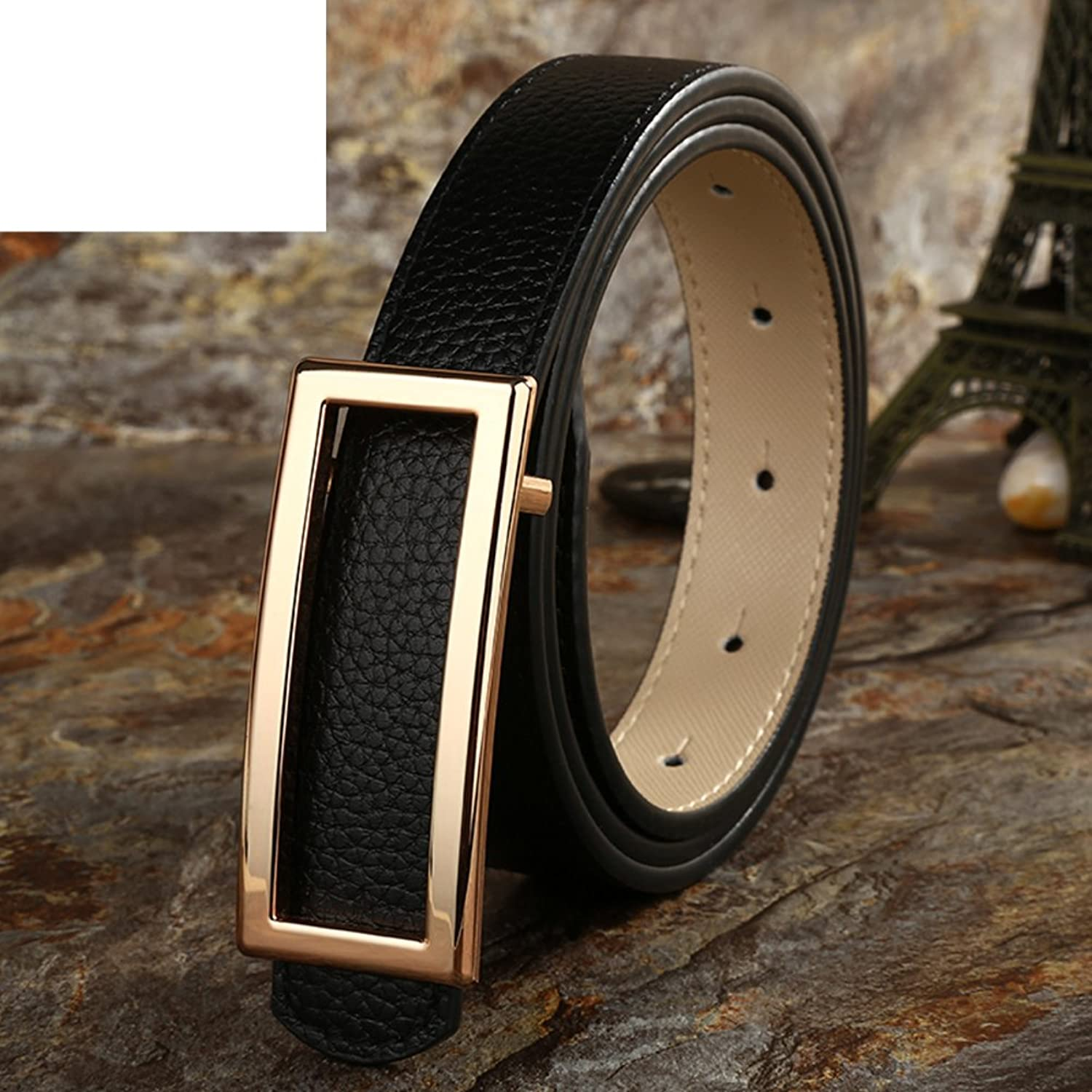 Leather belt simple fashion hundredlap belt casual fine white beltB 110cm(43inch)