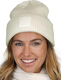 C.C Unisex Winter Thick Knit Plain Cuff Skull Cap Beanie Hat