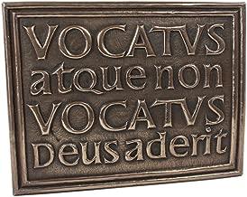 Bidden or Not Bidden God is Present Plaque Vocatus Atque Non Vocatus Irish Made