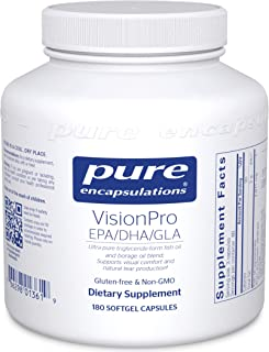 Pure Encapsulations - VisionPro EPA/DHA/GLA - Dietary Supplement to Support Natural Tear Production and Ret...