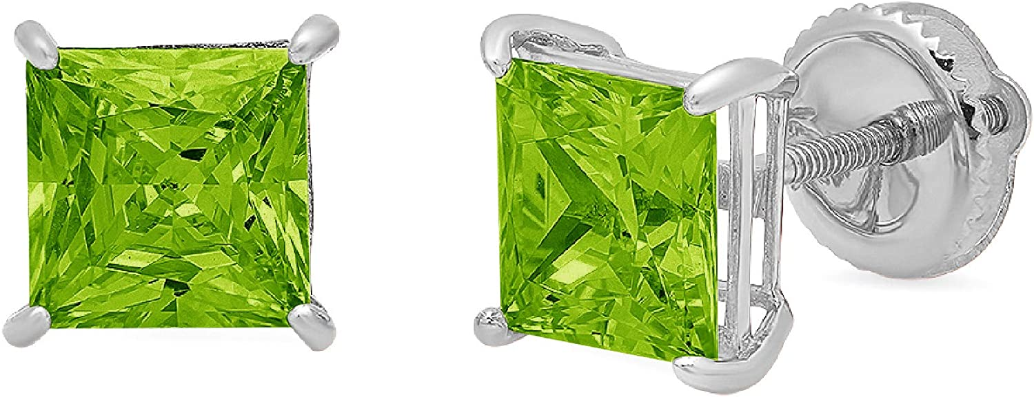 Clara Pucci 2.1 ct Max 90% OFF Brilliant Solitaire Cut Princess Flawles VVS1 Directly managed store