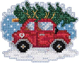 Tree Shopping Beaded Counted Cross Stitch Ornament Kit Mill Hill 2019 Winter Holiday MH181931