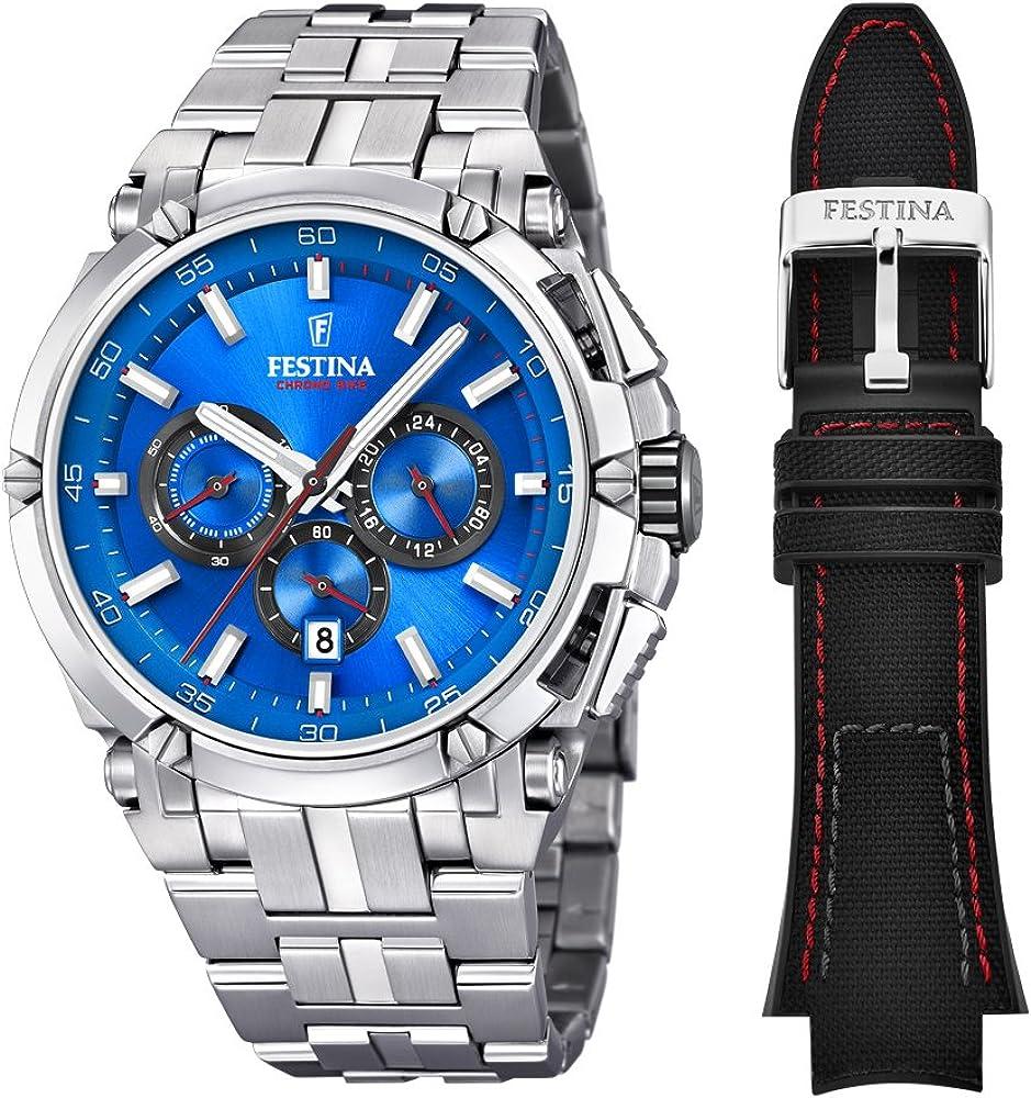 Festina orologio cronografo da uomo  in acciaio inossidabile F20327/2