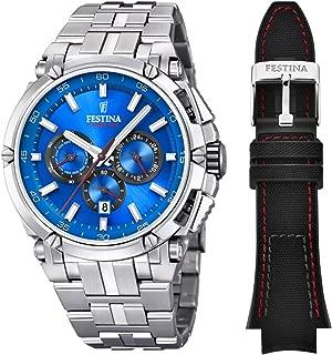 Festina Chrono Bike 2016 Men's Quartz Watch with Blue Colour Dial Chronograph Display and Stainless Steel Bracelet F16971/2