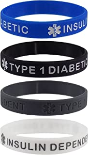 diabetic silicone wristbands