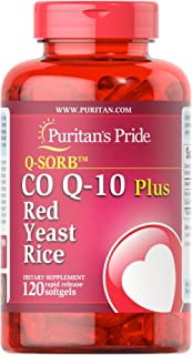 Sponsored Ad - Q-Sorb CoQ10 Plus Red Yeast Rice,120 Rapid Release Softgels by Puritan's Pride