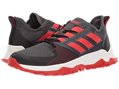 adidas Running Kanadia Trail (Grey Six/Active Red/Core Black) Men