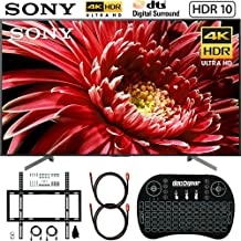 Sony XBR-85X850G 85-inch 4K Ultra HD LED TV (2019) Bundle with Deco Mount Flat Wall Mount Kit, Deco Gear Wireless Backlit Keyboard and Deco Gear 2X 4K Copper 6ft HDMI Cable