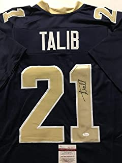 Autographed/Signed Aqib Talib Los Angeles LA Blue Football Jersey JSA COA