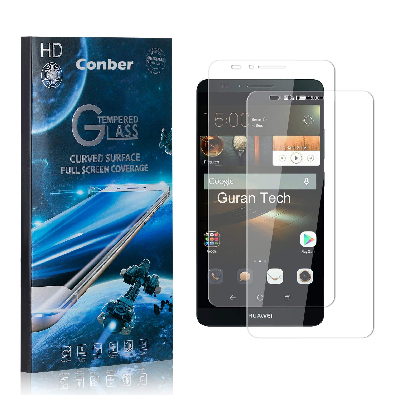 Conber 2 Pack Screen Protector Max 50% OFF Japan's largest assortment for Mate Huawei 7 Scratch-Res