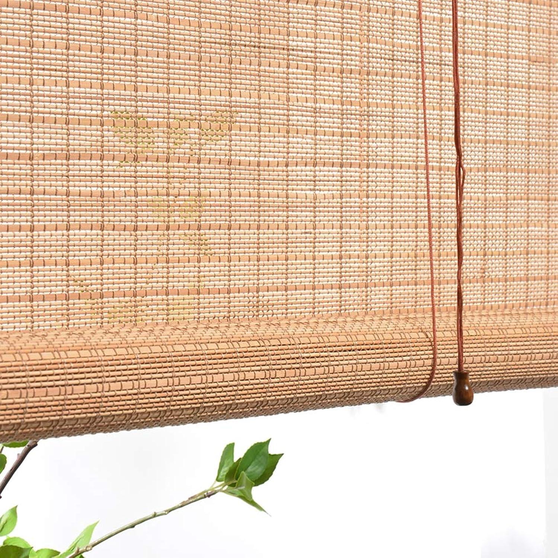 Cortina De Bambú BalcóN del Hogar Persiana Enrollable Toldo Sombrilla, Ancho  Alto,A,80  160cm