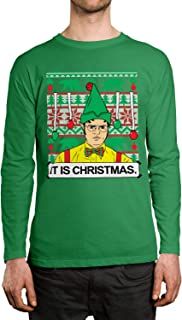 SpiritForged Apparel Dwight It is Christmas Ugly Unisex Long Sleeve Shirt