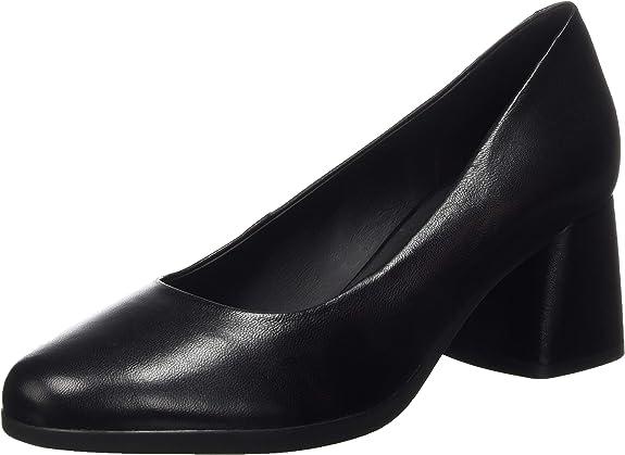 TALLA 37.5 EU. Geox D Calinda Mid B, Zapatos de Tacón Mujer