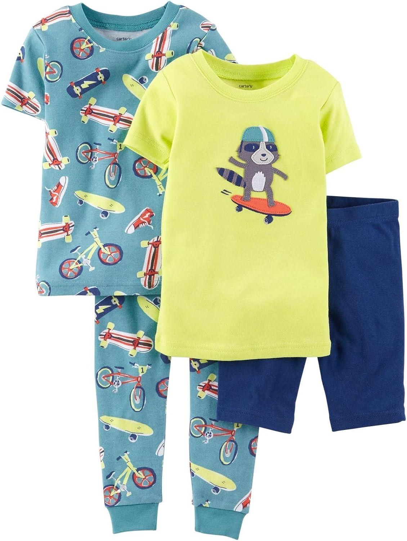 Carter's 4 Piece Pant PJ Set (Baby) Skater