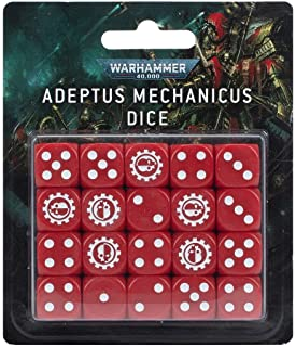 Warhammer 40k - Adeptus Mechanicus Dice Set