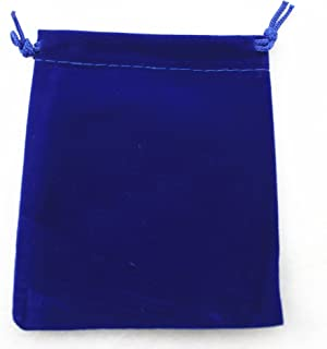 """AEAOA Pack of 25 Royal Blue Velvet Gift Bags Drawstring Jewelry Pouches Candy Bags Wedding Favors (3.5""""x4.7"""")"""