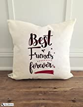 ALDIVO Best Friends Forever Printed Cushion Cover (12x12-inch)