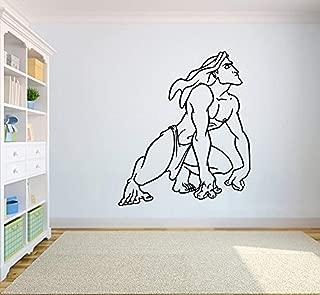 Tarzan Monkey Wall Poster Cartoon Walt Disney Vinyl Picture Tarzan Wall Vinyl Decal Decor for Home Child Kids Room Graphic Baby Nursery SC6