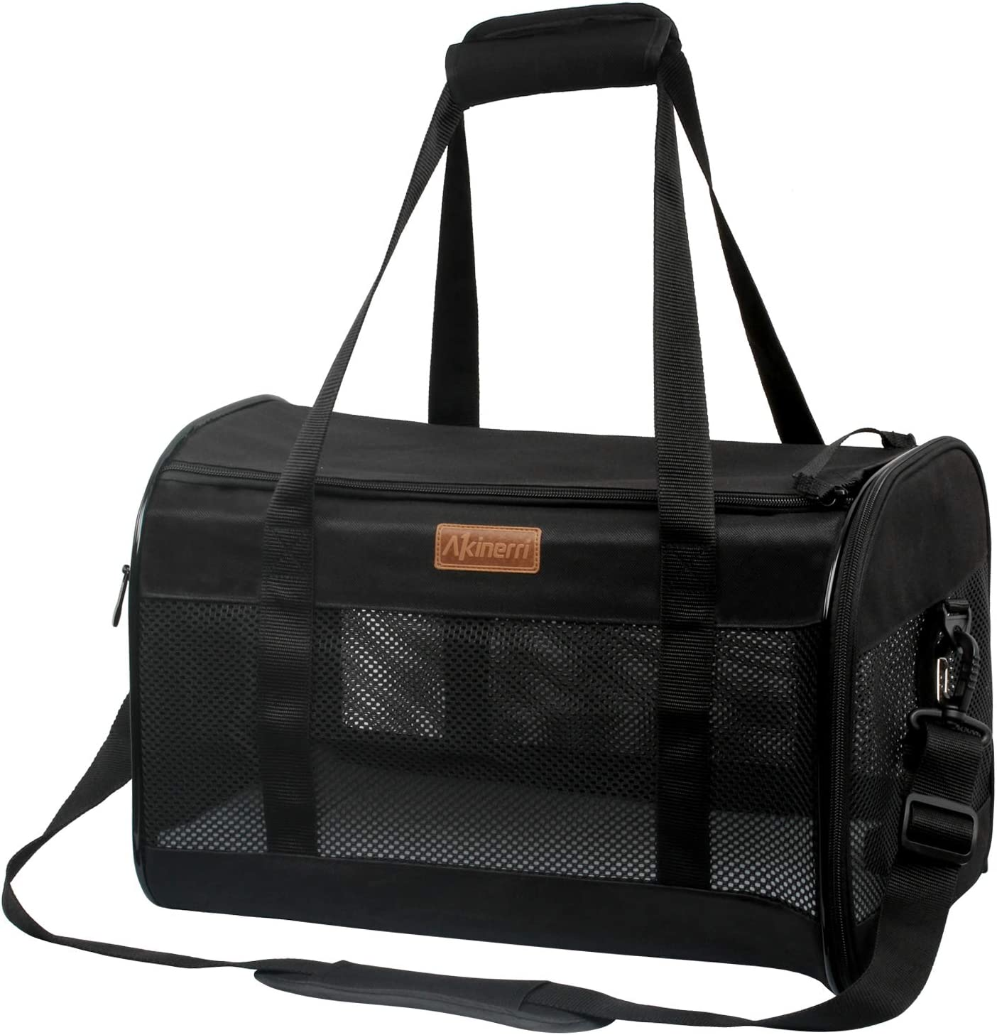 Akinerri Louisville-Jefferson County Mall Airline Approved Pet SEAL limited product Carriers Soft Sided Collapsible Pe