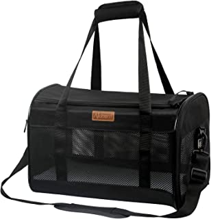 Akinerri Airline Approved Pet Carriers,Collapsible Soft Sided Pet Travel Carrier for Dogs and Cats, Cat Carrier Pet Carrie...
