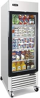 Single Glass Door Merchandiser Freezer - KITMA 19.1 Cu.Ft Merchandiser Display Case with LED Lighting for Restaurants, 0°F - 8°F