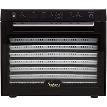 Tribest Sedona SD-P9000 Digitally Controlled Food Dehydrator With BPA-Free Trays, Black, Large