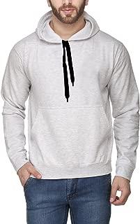 Scott International Men's Rich Cotton Pullover Hoodie Sweatshirt - White Melange