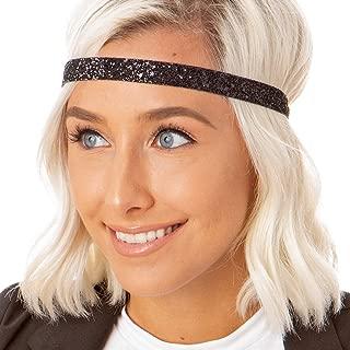 Women's Adjustable NO Slip Skinny Bling Glitter Headband